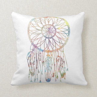 Whimsical Dream Catcher Watercolor Throw Pillow