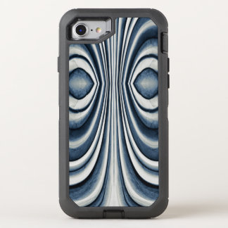 Whimsical Earth Toned Blue Abstract Pattern OtterBox Defender iPhone 7 Case