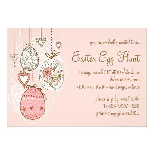 Whimsical Easter Eggs | Easter Egg Hunt Invitation