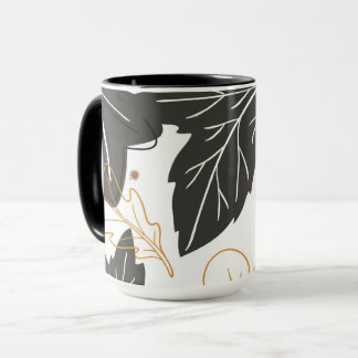 Whimsical Elegant Autumn Fall Leaves Acorns Mug