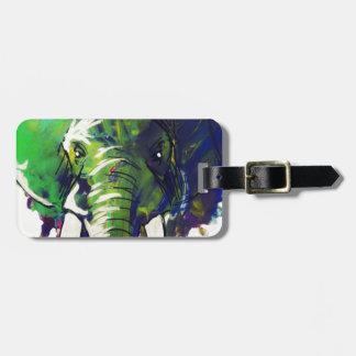 Whimsical Elephant Luggage Tag