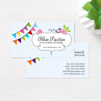 Whimsical Event Styling and Design Business Card
