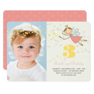 Whimsical Fairy Princess Girl Birthday Party Photo 13 Cm X 18 Cm Invitation Card
