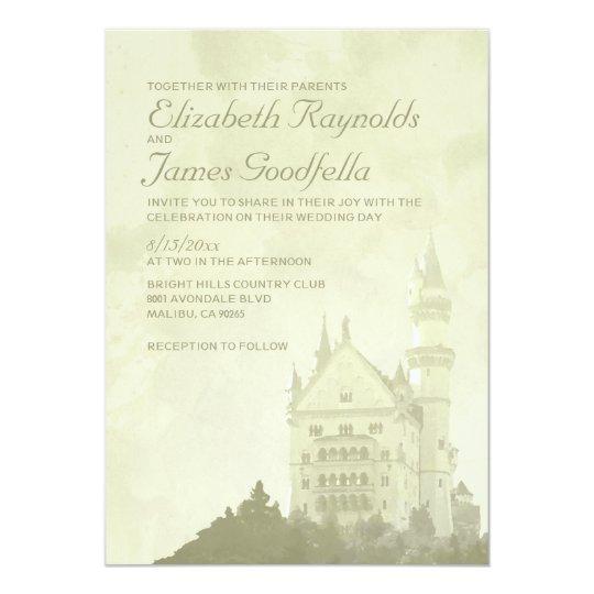 Whimsical Fairytale Castle Wedding Invitations