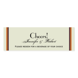 Whimsical Fall Tree Wedding Drink Ticket Business Card