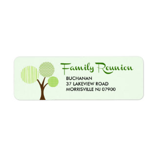 Whimsical Family Tree Family Reunion Return Return Address Label