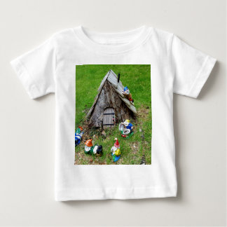 Whimsical Fantasy Outdoor Gnomes With House Baby T-Shirt