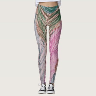 Whimsical Feather Leggings