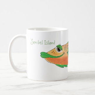 Whimsical Fish Artwork - Sanibel Island Florida Coffee Mug