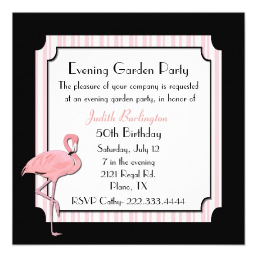 Whimsical Flamingo Party Invitation