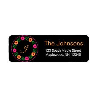 Whimsical floral address labels