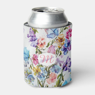 WHIMSICAL FLORAL AND BUTTERFLIES CAN COOLER