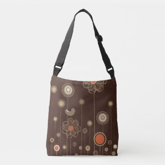 Whimsical Floral Modern Pattern Crossbody Bag