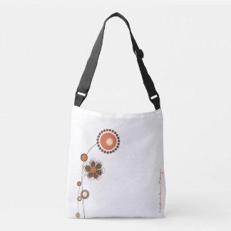 Whimsical Floral White Orange Modern Pattern Tote Bag