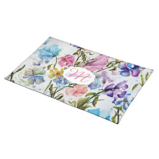 WHIMSICAL FLOWER GARDEN PLACEMAT
