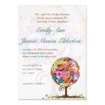 Whimsical Flower Love Tree Wedding Invitation 13 Cm X 18 Cm Invitation Card