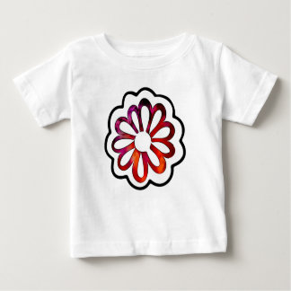 Whimsical Flower Power Doodle Baby T-Shirt