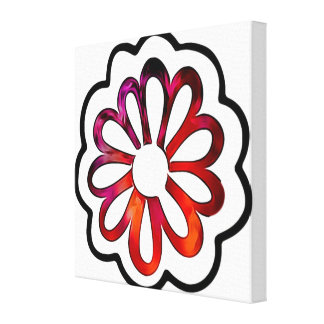 Whimsical Flower Power Doodle Canvas Print