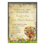 Whimsical Flower Tree Wedding Custom Announcement
