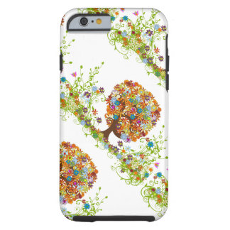Whimsical Flower Tree Wedding Tough iPhone 6 Case