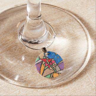 Whimsical Flower Wine Charm