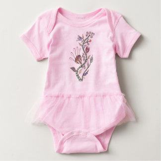 Whimsical Flowers Baby Bodysuit