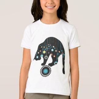 Whimsical Flowers Cat T-Shirt