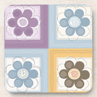 Whimsical Flowers Drink Coaster