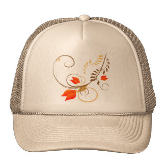 Whimsical flowers hat