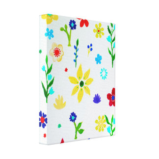 Whimsical Flowers Summer Fun Canvas Print
