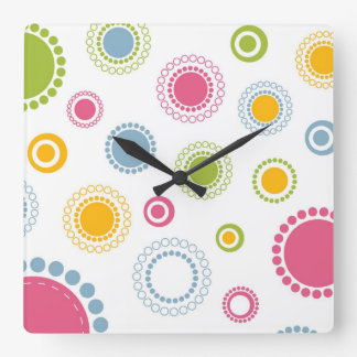Whimsical Flowers Wall Clock