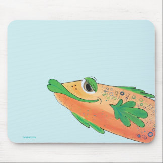 Whimsical Funky Fish Painting Mouse Pad