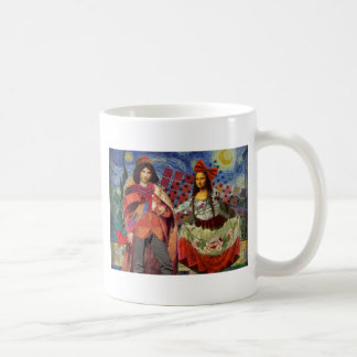 Whimsical Funny Vintage Wedding Couple Coffee Mug