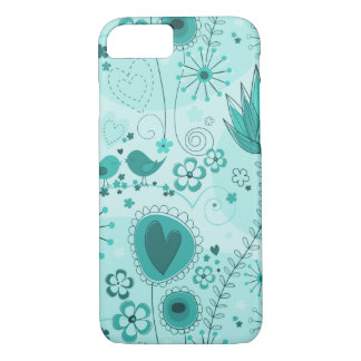 Whimsical Garden in Turquoise iPhone 7 case