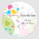 """Whimsical Garden """"Save the Date"""" Sticker"""