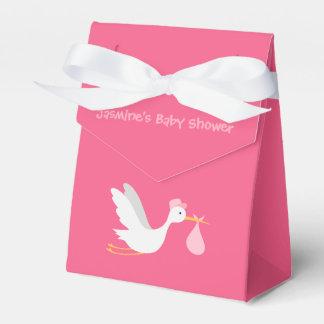 Whimsical Girl Stork Baby Shower Favour Box