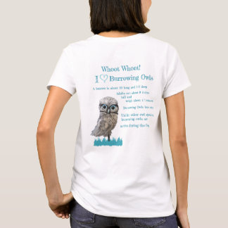 Whimsical Gold and Silver Burrowing Owl T-Shirt