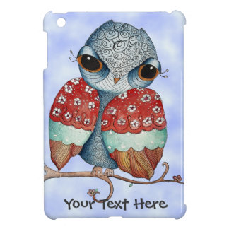 Whimsical Grumpy Owl iPad Mini Cover