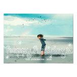 Whimsical Happy Holidays Snowflakes Photo Card 13 Cm X 18 Cm Invitation Card