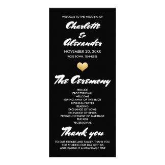 Whimsical Heart Wedding Program Ceremony Customized Rack Card