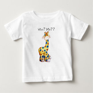 Whimsical Hippie Giraffe Funny Baby T-Shirt
