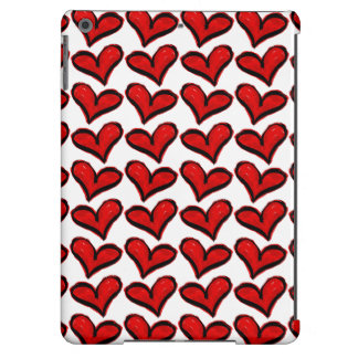 Whimsical Holiday Hearts iPad Air Covers