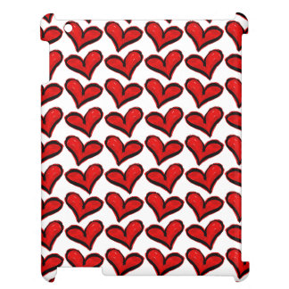 Whimsical Holiday Hearts iPad Case