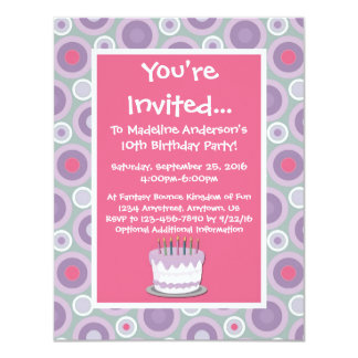 Whimsical Hoops Birthday Party Invitation