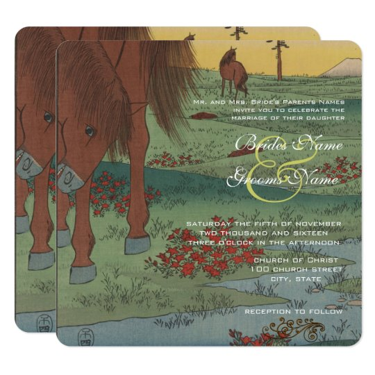 Whimsical Horse Wedding Invitation