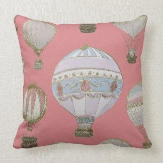 Whimsical Hot Air Balloon - Duchess Pink Cushion