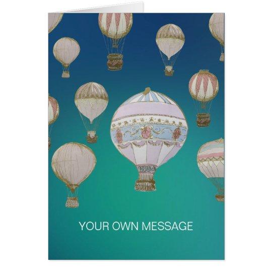 Whimsical Hot Air Balloons Card