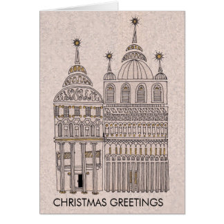 WHIMSICAL HOUSES CHRISTMAS CARD