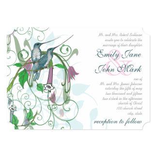 Whimsical Humming Birds Wedding Invitation #2