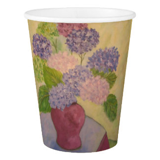 Whimsical Hydrangea Paper Cup